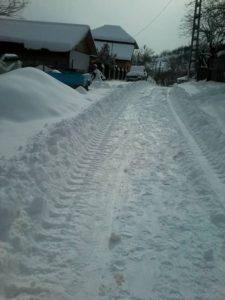Langa Moara lui Stroescu (comuna Odaile, Buzau, 9 februarie 2017).