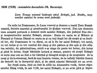 Brăiești, 1630